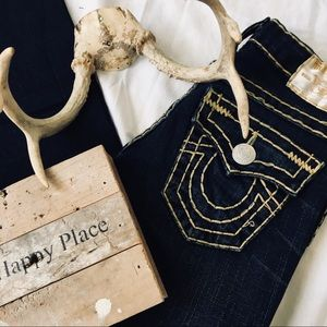 Gold Stitched True Religion Jeans